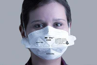 3m vflex respirator and surgical mask